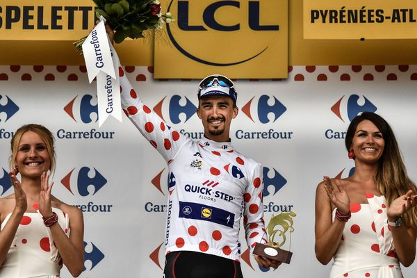 Dés le 28 juillet, lors de l'avant-dernière étape, Julian Alaphilippe était assuré de finir le tour avec le maillot à pois, qu'il portait depuis la 10ème étape de ce Tour de France 2018.
