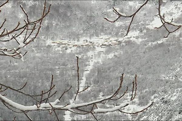 Beaucoup de neige tombée dans le sud de l'Aveyron.