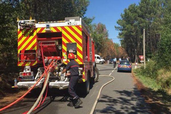 Les pompiers en action cet été à Ruaudin (72)