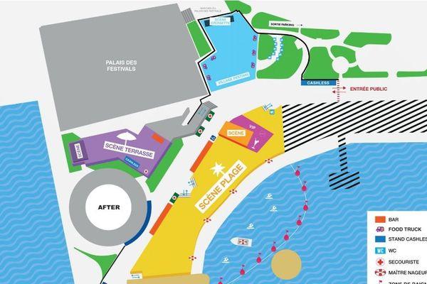 Le plan du festival.