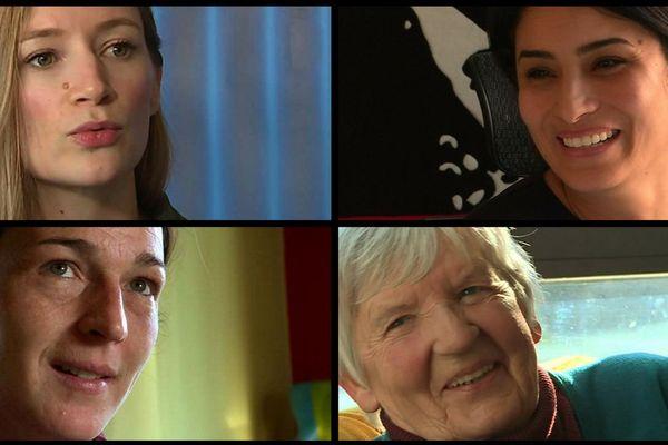 De G à D et de haut en bas Sabine Devielhe, Astrid Granger, Sonia Krimi et Annie Berger