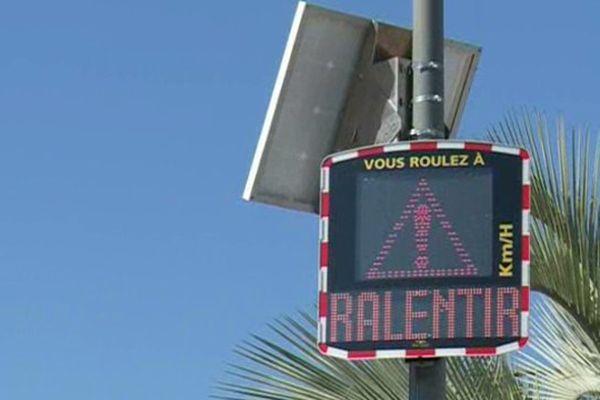 La commune de Villeneuve-Loubet vient d'installer un radar pour vélo.
