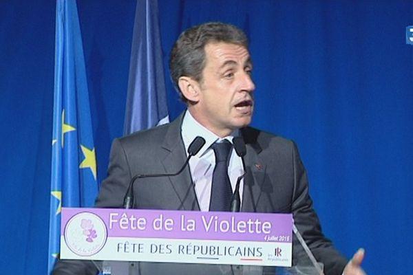 Nicolas Sarkozy - Fête de la violette - Ferté-Imbault (Loir-et-Cher) - 4 juillet 2015
