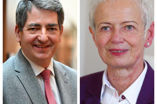 Les deux têtes de listes alsaciennes des élections régionales 2021 : Jean Rottner, le président sortant de la Région Grand Est et Brigitte Klinkert, l'actuelle ministre déléguée chargée de l'insertion.