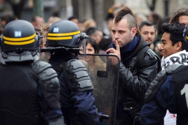 Lors de la manif du 8 novembre à Toulouse