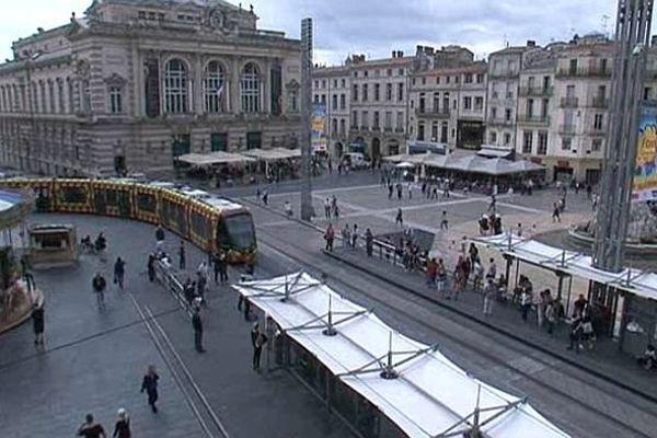 Montpellier - place de la Comédie - 2013.