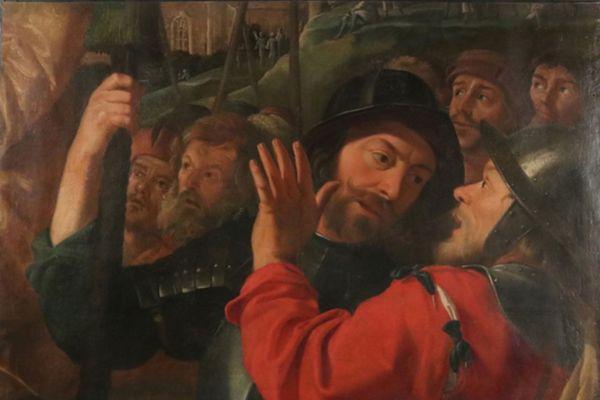 Fragment du tableau attribué à Nicolas Tournier