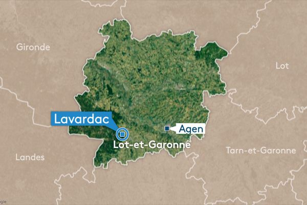 La conduite a été percée avenue des Grands-Champs, sur la commune de Lavardac.