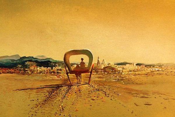 """""""La charette fantôme"""",une huile sur toile peinte en 1933."""