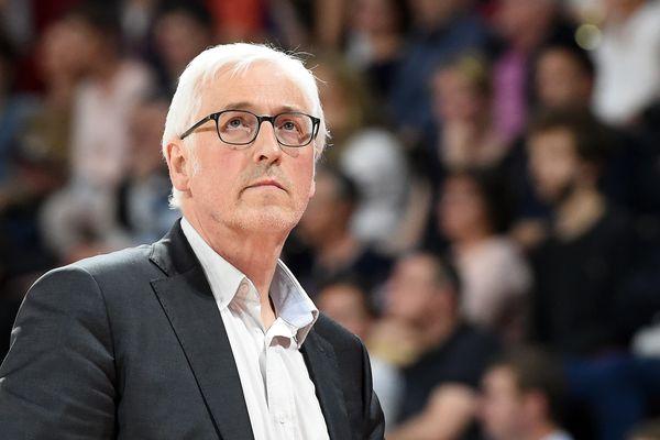 Christian Monschau, alors entraîneur du SLUC Nancy Basket, en mai 2019.