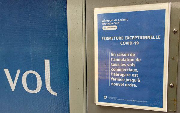 Depuis le 23 mars, l'aéroport de Lorient-Bretagne-Sud est fermé.