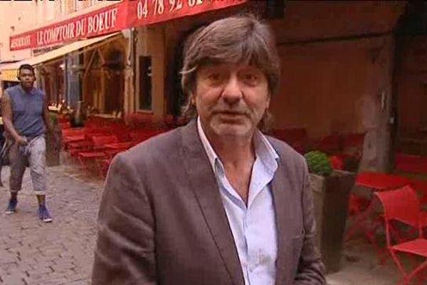 Quartier St Jean à Lyon, Michel Neyret quitte le palais de justice- Lyon, le 19/09/2014