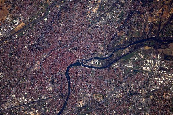 Toulouse vu de l'espace
