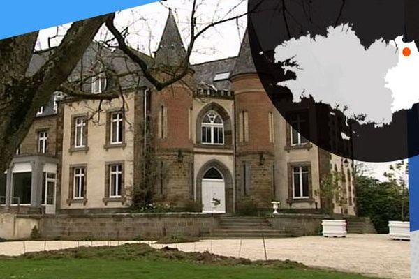 Le château des Diablaires, ancien aérium pour les enfants malades. Aujourd'hui, il sert d'entrepôt ou de salle de réception pour les mariages.