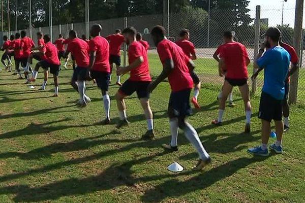 Les joueurs de Béziers lors d'un entrainement - 2018