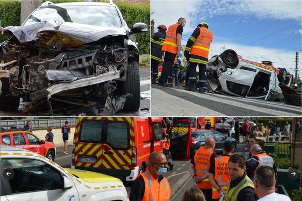 L'accident spectaculaire a fait trois blessés.