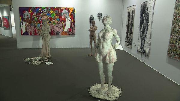 Cheloudiakoff gallery booth - ART FAIR DIJON 2021