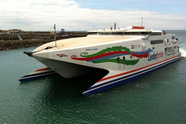 Condor Ferries dans le port de Saint-Hélier à Jersey. La quarantaine imposée sur l'île a mis a mal l'activité de l'entreprise.