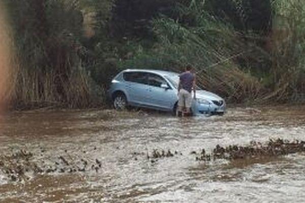 A Argelès, une voiture a été emportée par la crue de la Massane