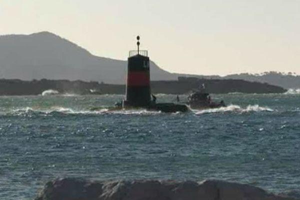 La côte autour de Bandol se prête bien à des exercices de sauvetage.