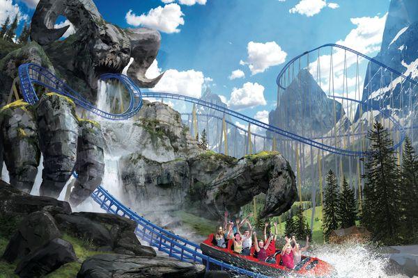 L'attraction est issue d'une légende folklorique, le Krampus.