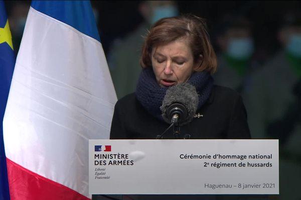 Eloge funèbre de Florence Parly, en l'honneur des deux militaires alsaciens tués au Mali