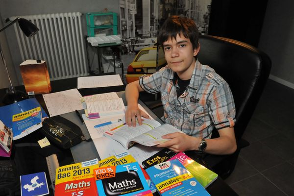 Maxime, 14 ans, candidat au bac 2013