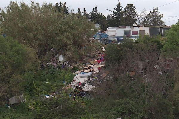 Montpellier - un bidonville en périphérie - 2020.