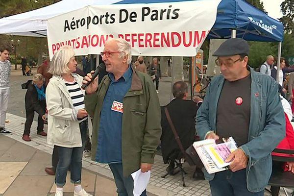 Montpellier : ATTAC cherche des signatures pour un référendum sur la privatisation de ADP - 19 octobre 2019.