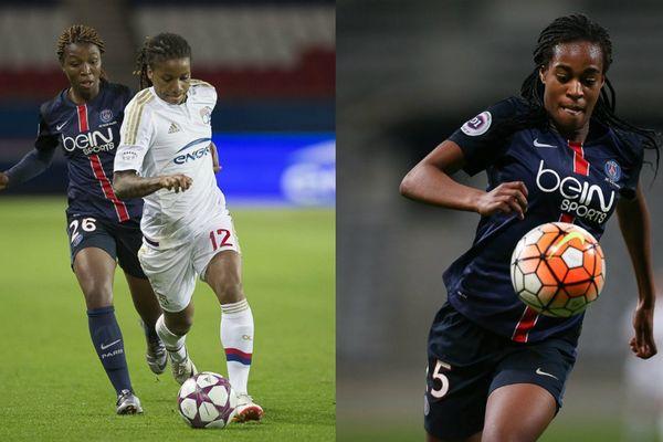 Onema Grace Geyoro et Marie-Anotinette katoto, auteurs des deux buts de l'équipe de France des U19, en finale de l'Euro 2016.