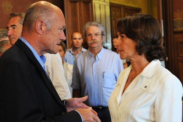 Le 25/08/2011 : Alain Rousset et Ségolène Royal lors de la réunion des présidents de régions socialistes