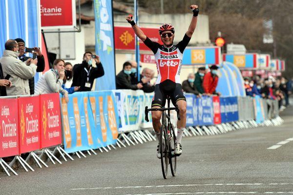 Tim Wellens, qui ne s'était jamais imposé sur le sol français, est bien parti pour remporter cette édition 2021 de l'Étoile de Bessèges.