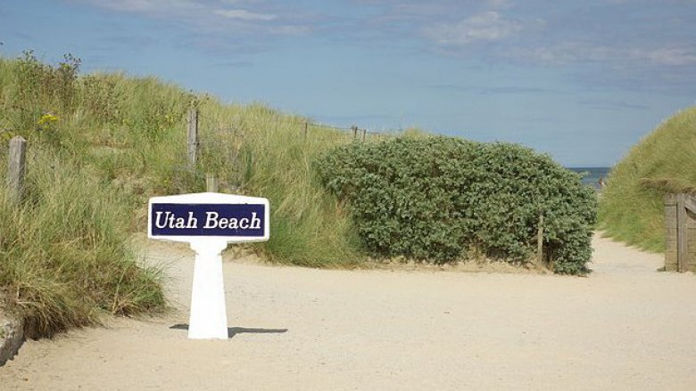 Panneau de Utah Beach / © Duch.sev via wikimedias commons CC-BY-SA-3.0,2.5,2.0,1.0