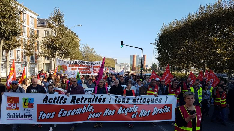 Manifestation du 9 octobre 2018 au Havre / © David Frotté - France 3 Normandie