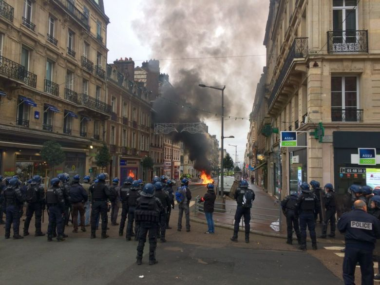 Rouen le 29 décembre 2018 - 13h : manifestation des gilets jaunes rue Jeanne d'Arc / © Photo : Maxime FOURRIER / France 3 Normandie