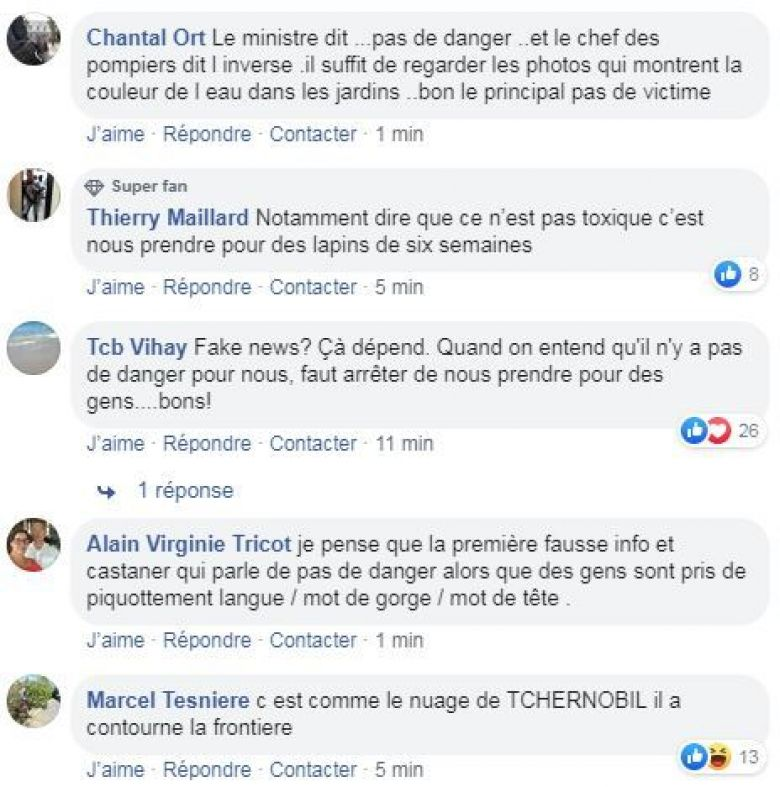 Des commentaires sur le Facebook de France 3 Normandie / © Facebook France 3 Normandie