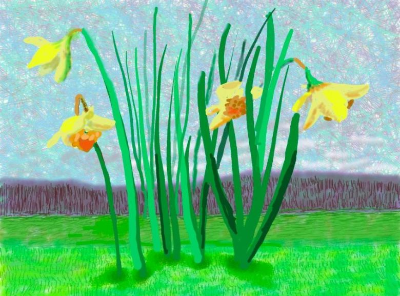 """Do remember they can't cancel the spring"", David Hockney (2020) / © David Hockney"