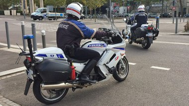 Motards de la police de Rouen / Archives / © Richard PLUMET / France 3 Haute-Normandie