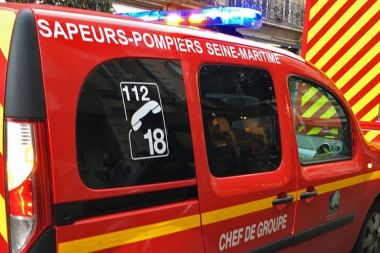 Véhicules des pompiers de Seine-Maritime en intervention / © Richard PLUMET / France 3 Normandie