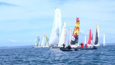 24 duos de skipper ont pris le départ de la 8ème édition de la Normandy Channel Race à Ouistreham. / © France 3 Normandie