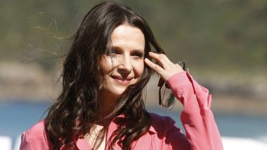 Juliette Binoche a confirmé son intention d'incarner Florence Aubenas dans une adapation de son livre le quai de Ouistreham au festival de San Sebastian en le 26 septembre 201/8 / © Juan Herrero/EPA/Newscom/MaxPPP