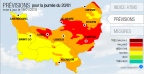 Pollution de l'air par les particules en suspension en Normandie ce mercredi