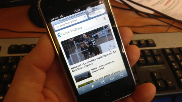 France 3 Corse ViaStella en version mobile sur vos portables et tablettes © FTViaStella