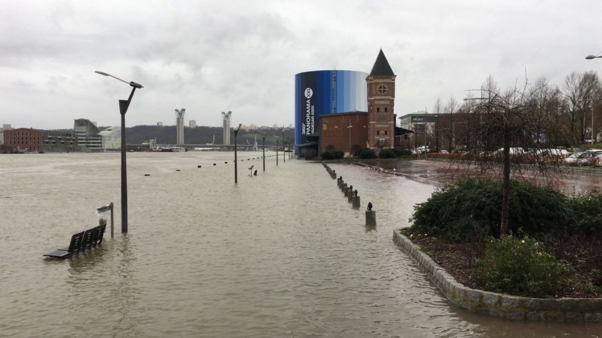 La Seine à Rouen le mercredi 31 janvier 2018 à 14h / © Photo : Richard PLUMET / France 3 Normandie