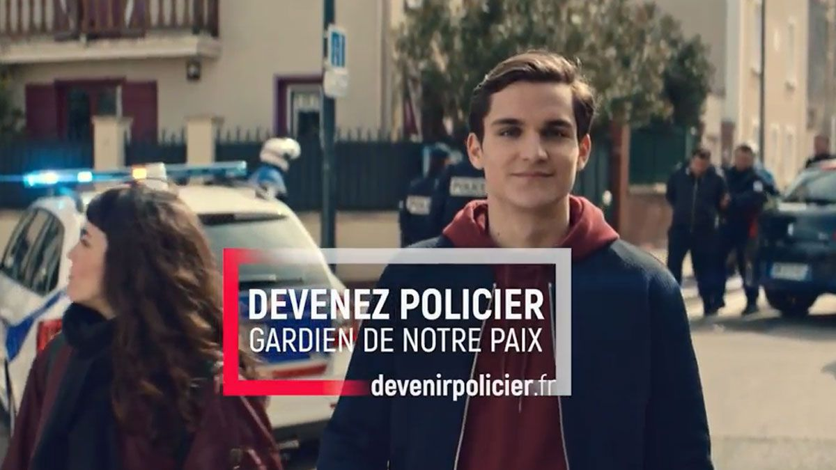 Extrait du clip de recrutement de la police nationale 2018 / © Police Nationale