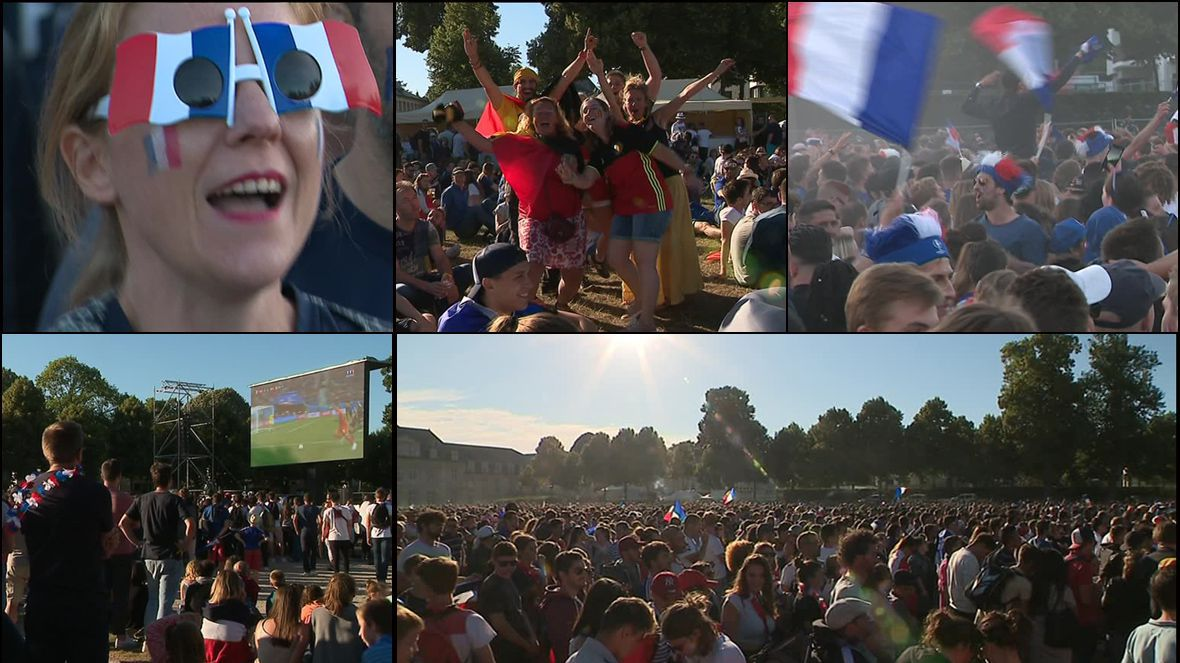 Coupe du monde des milliers de normands et une poign e de belges au parc d 39 ornano france 3 - Coupe de france retransmission tv ...