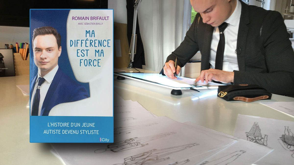 Le styliste Romain Brifault à sa table de travail / © Photo : City-Editions et Bruno DELANDE / France 3 Normandie