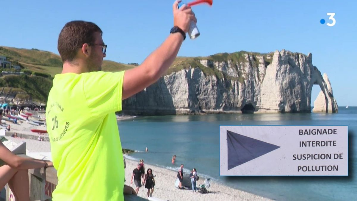 Etretat : l'interdiction de baignade passe mal