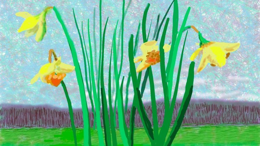 """Do remember they can't cancel the spring"" par David Hockney / © David Hockney"