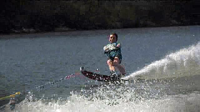 Benjamin Morel, Vice-Champion de France de ski nautique à l'entraînement à Rabodanges (Orne) © France 3 Basse-Normandie